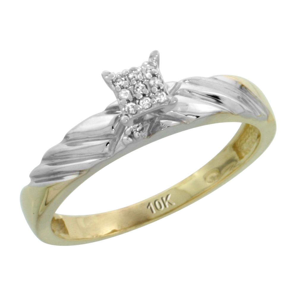 Sabrina Silver 10k Yellow Gold Ladies Diamond Wedding Band Ring 0.02 cttw Brilliant Cut, 1/8 inch 3.5mm wide at Sears.com