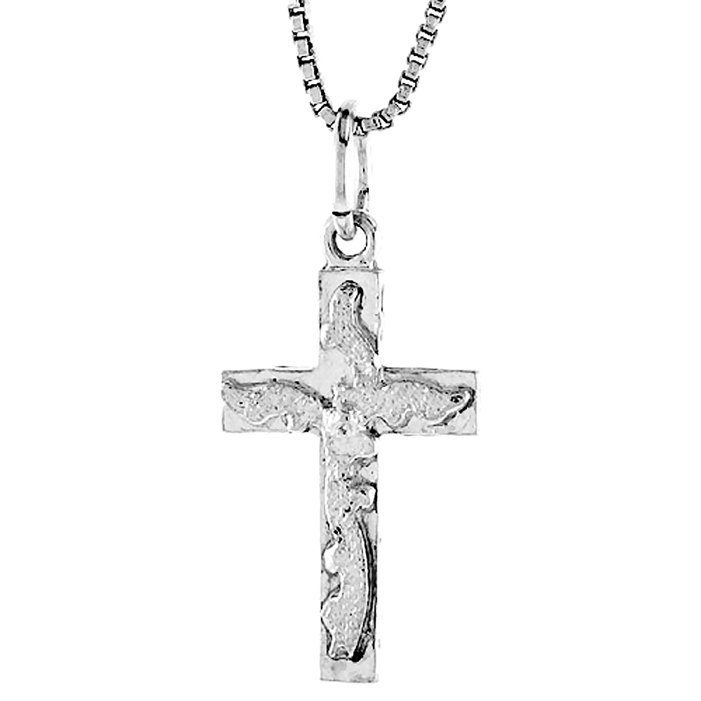 Sterling Silver Cross Pendant, 7/8 inch