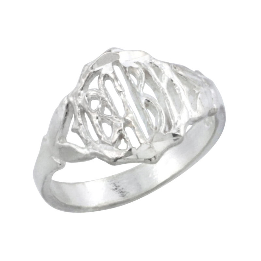 Sterling Silver Round Face Baby Ring / Kid\'s Ring / Toe Ring (Available in Size 1 to 5)
