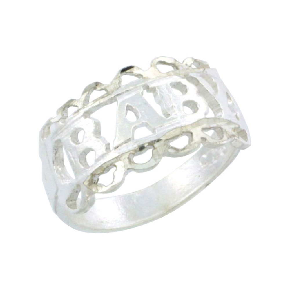 Sterling Silver Loop Baby Ring / Kid\'s Ring / Toe Ring (Available in Size 1 to 5)
