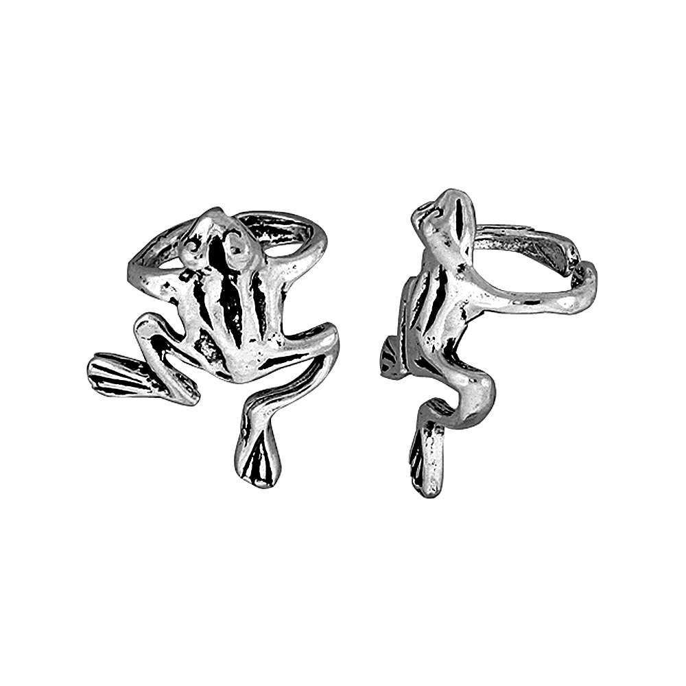Sterling Silver Frog Ear Cuff Earring (one piece), 11/16 inch