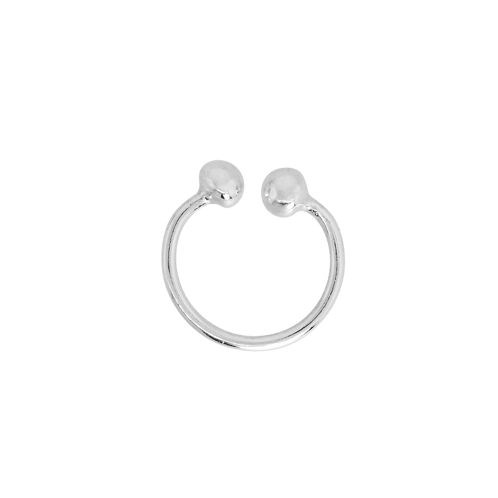 Sterling Silver Nose Ring Septum Piercing Horseshoe Cartilage Earring Non-Pierced 10 mm (one piece)