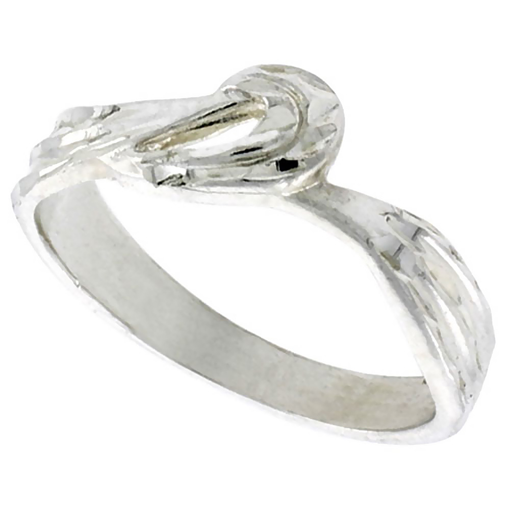 Sterling Silver Freeform Ring Polished finish 1/4 inch wide, sizes 6 - 9