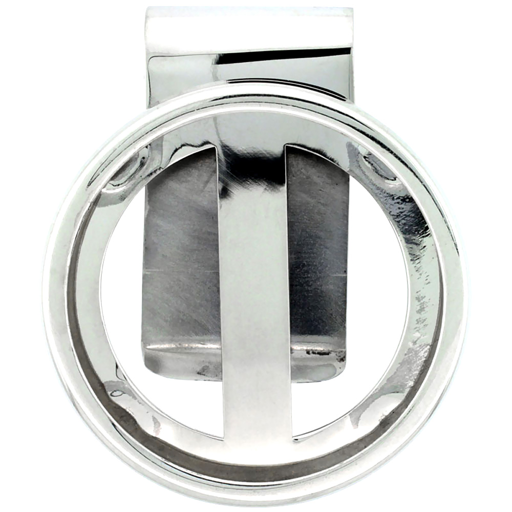 Sterling Silver Dollar Money Clip also fits Mexican Olympic Coins Not Included