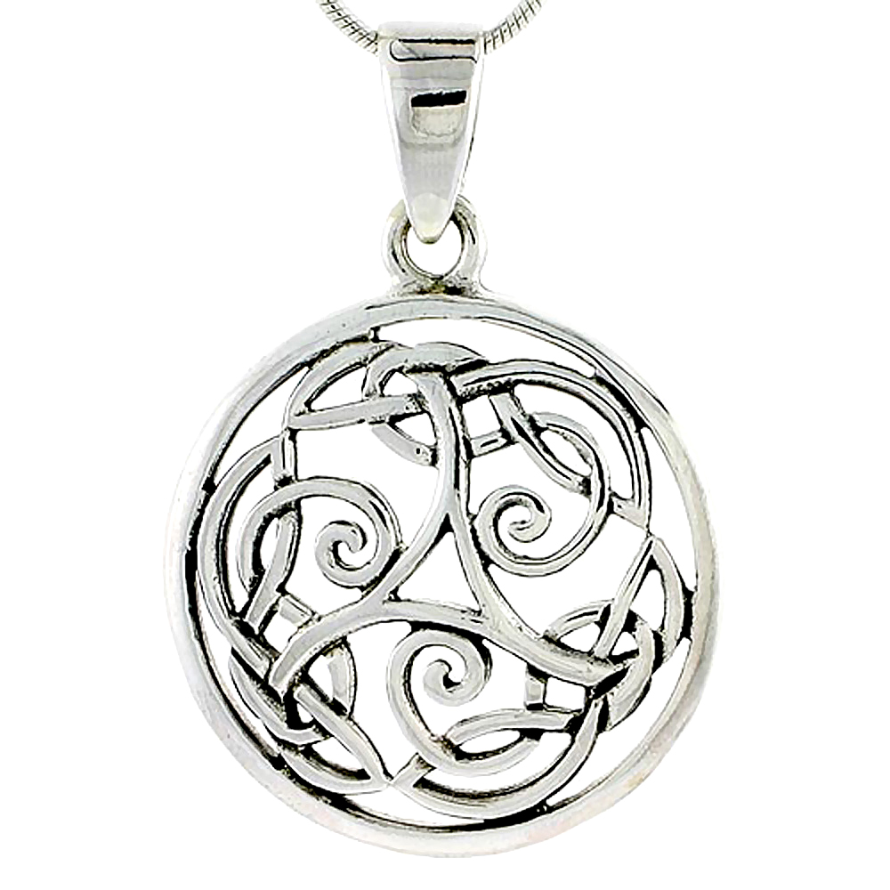 Sterling Silver Celtic Knot Charm, 1 1/16 inch
