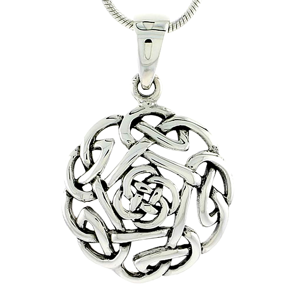Sterling Silver Celtic Knot Charm, 3/4 inch