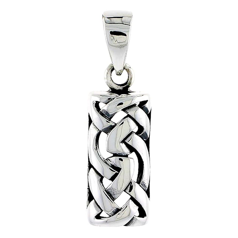 Sterling Silver Celtic Knot Charm, 7/8 inch