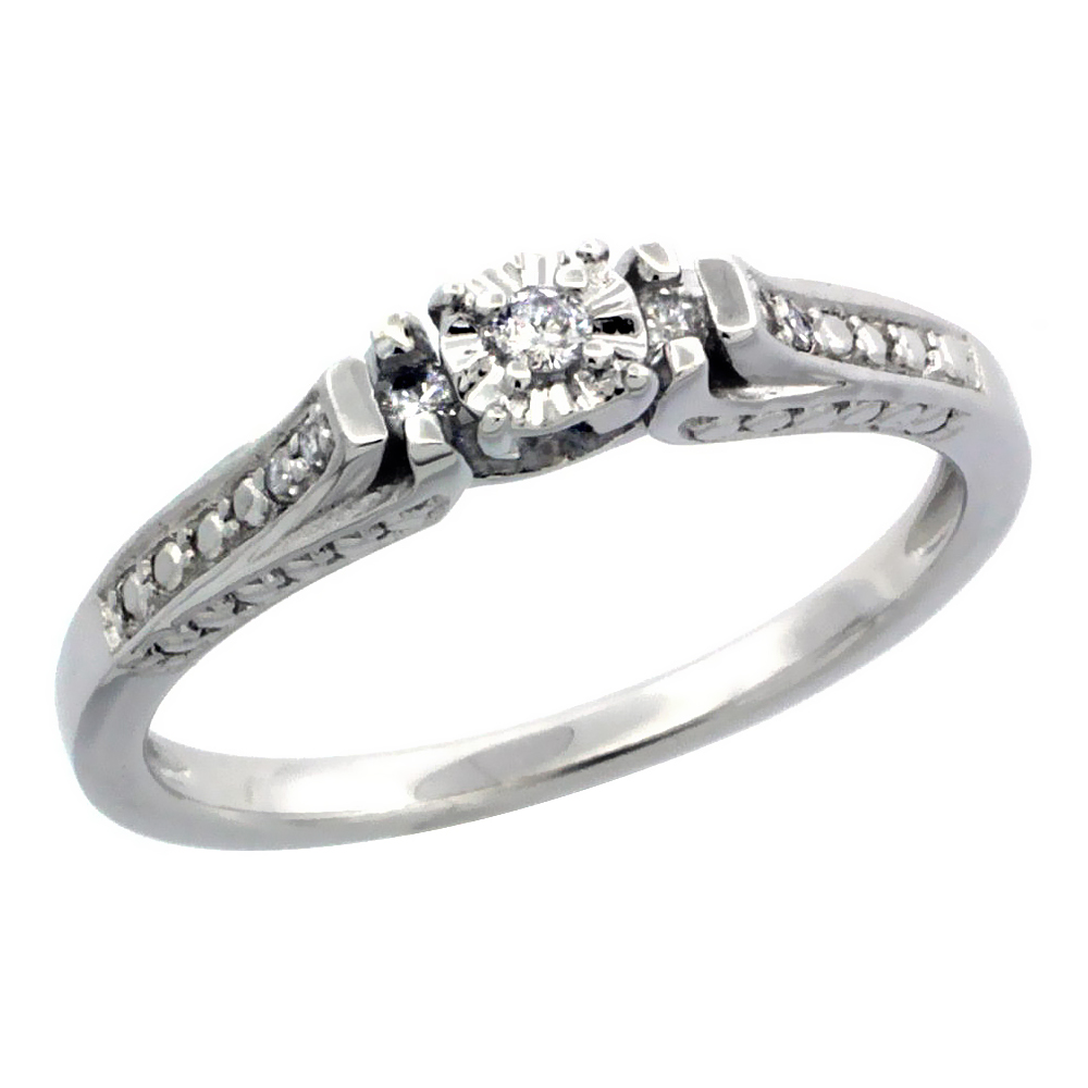 Sterling Silver Diamond Rings/Ladies' Rings