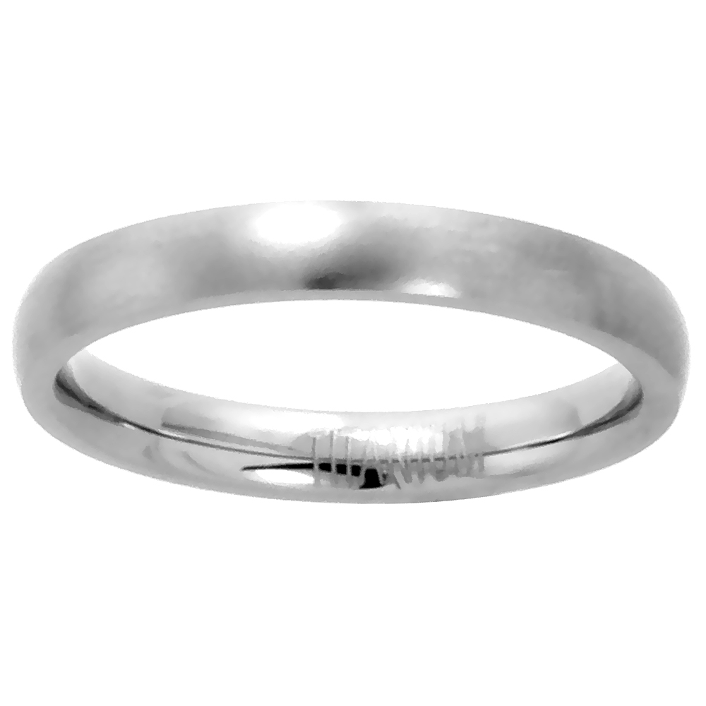 Sabrina Silver Titanium 3mm Domed Wedding Band / Thumb Ring Matte finish Comfort-fit, size 6 at Sears.com