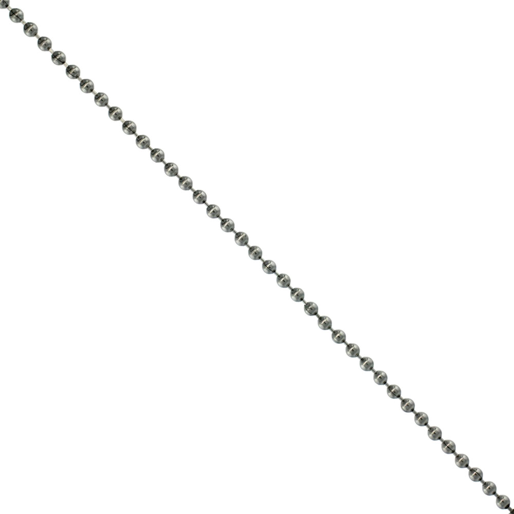 Surgical Steel Bead Ball Chain 1.5 mm By the Yard