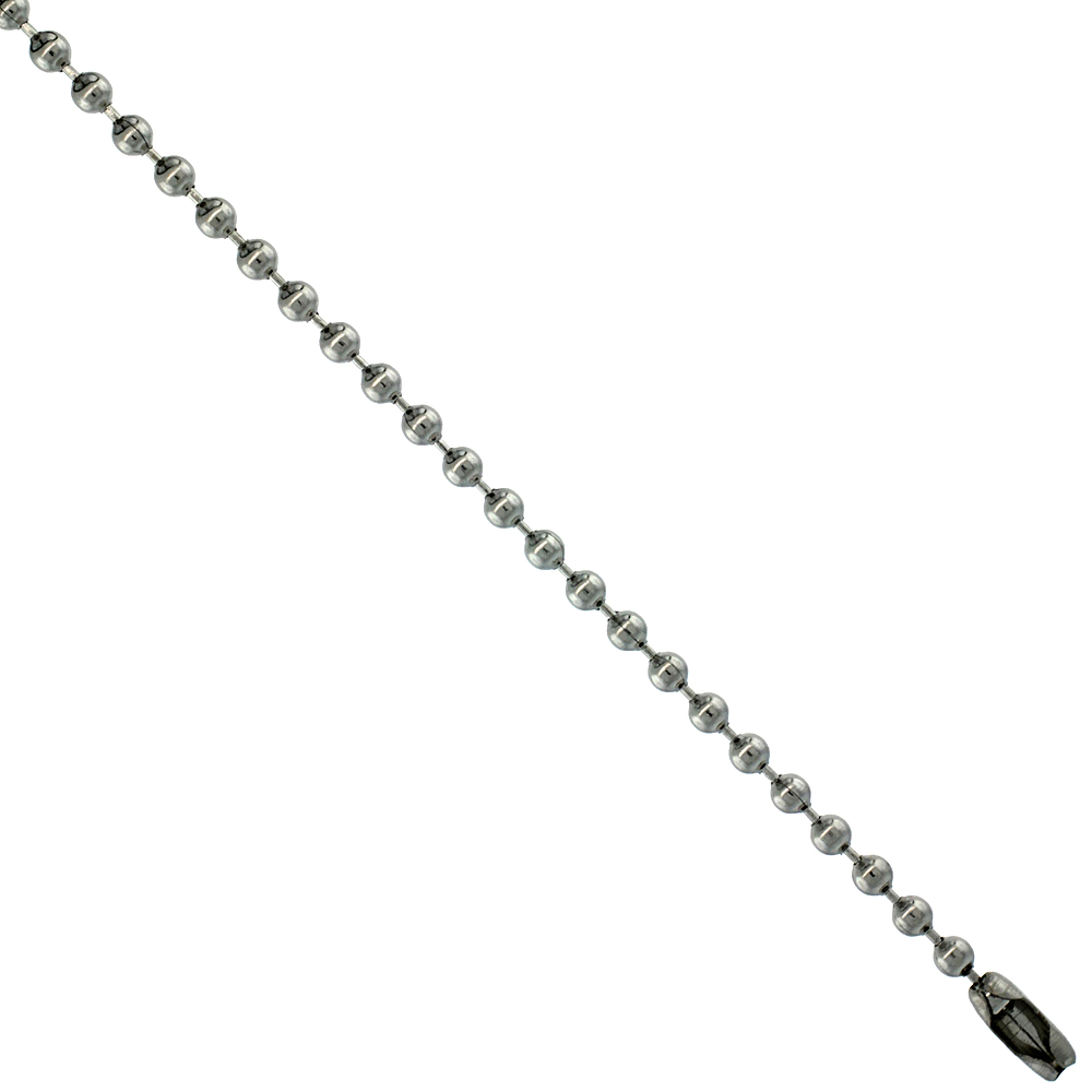 Stainless Steel Bead Ball Chain 2.5 mm By the Yard