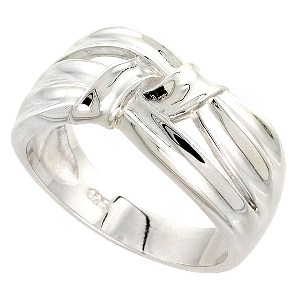 Sterling Silver Ribbon Ring Flawless finish 3/8 inch wide, sizes 6 - 10