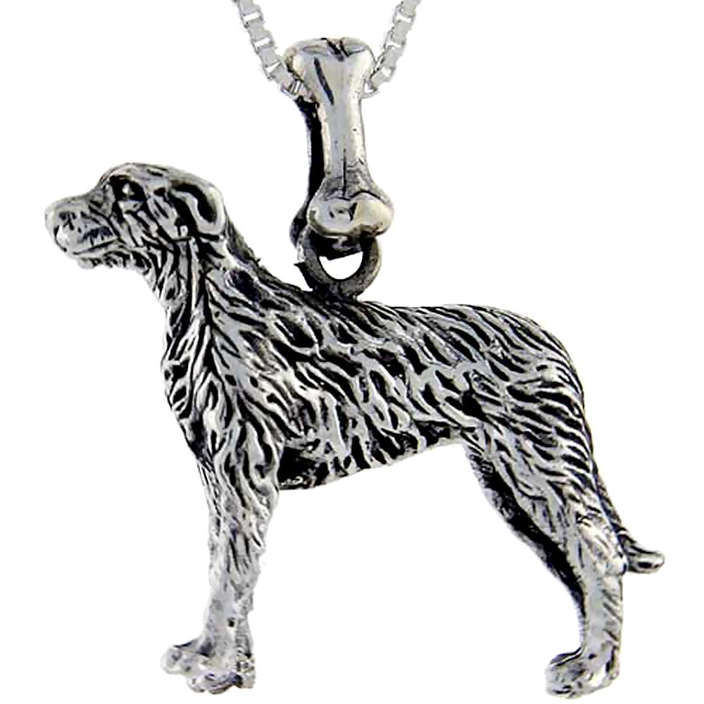 Sterling Silver Irish Wolfhound Dog Pendant ?
