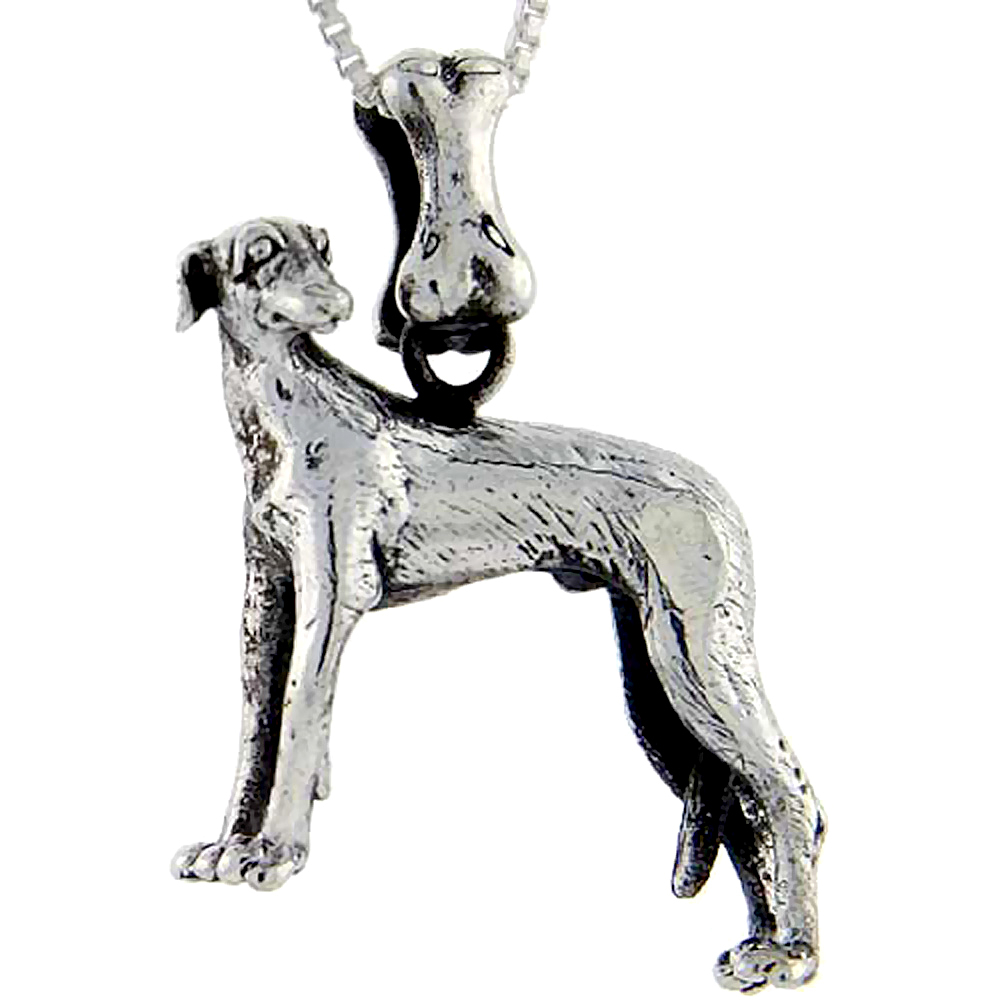 Sterling Silver Italian Greyhound Dog Pendant ?