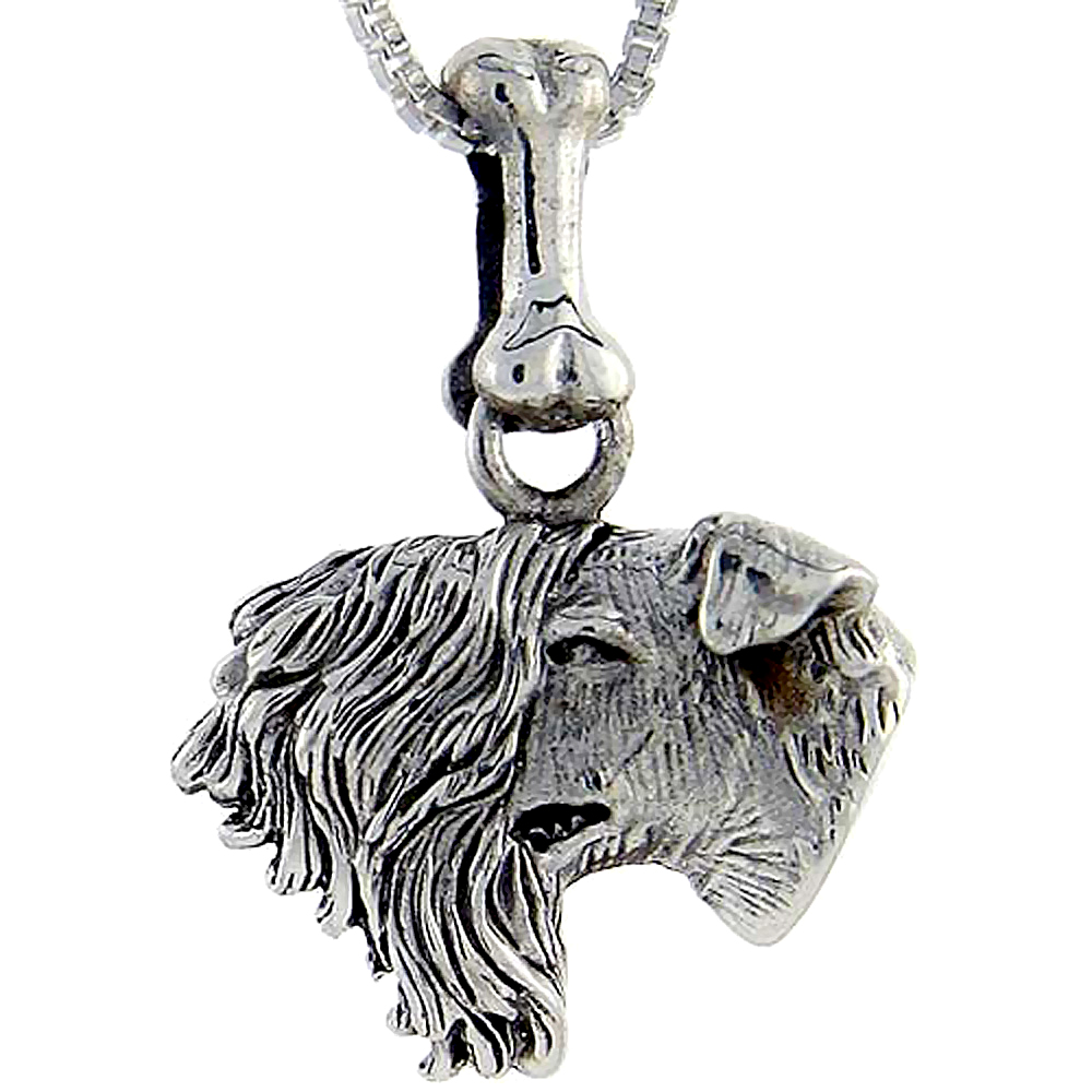 Sterling Silver Kerry Blue Terrier Dog Pendant ?