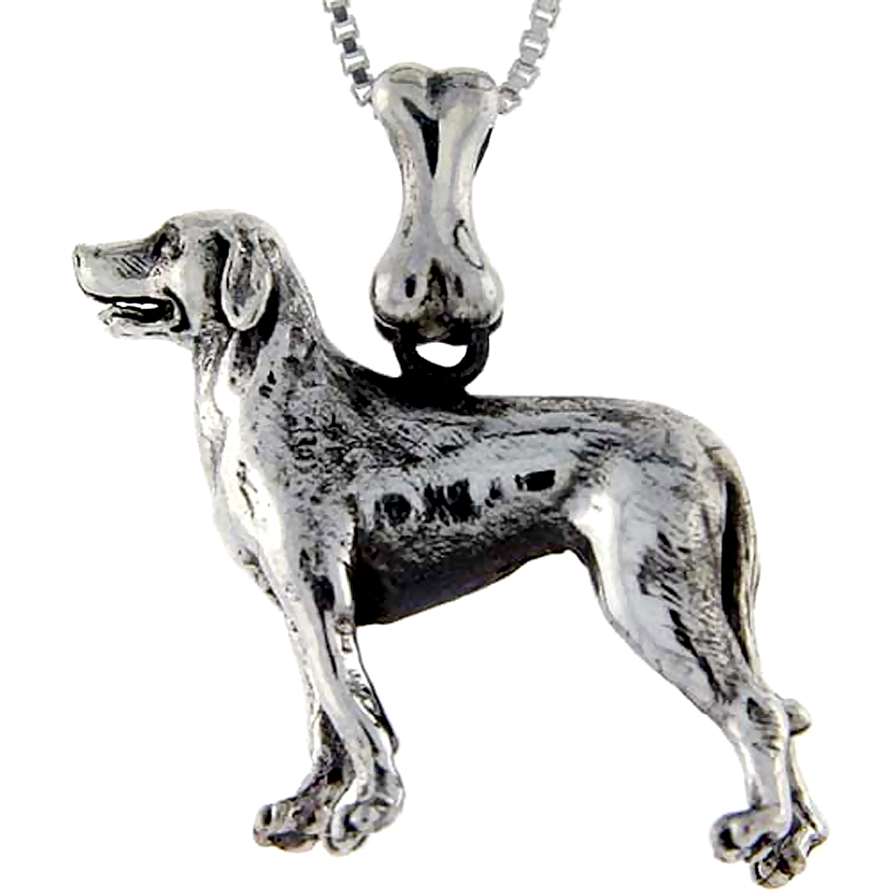 Sterling Silver Labrador Retriever Dog Pendant ?