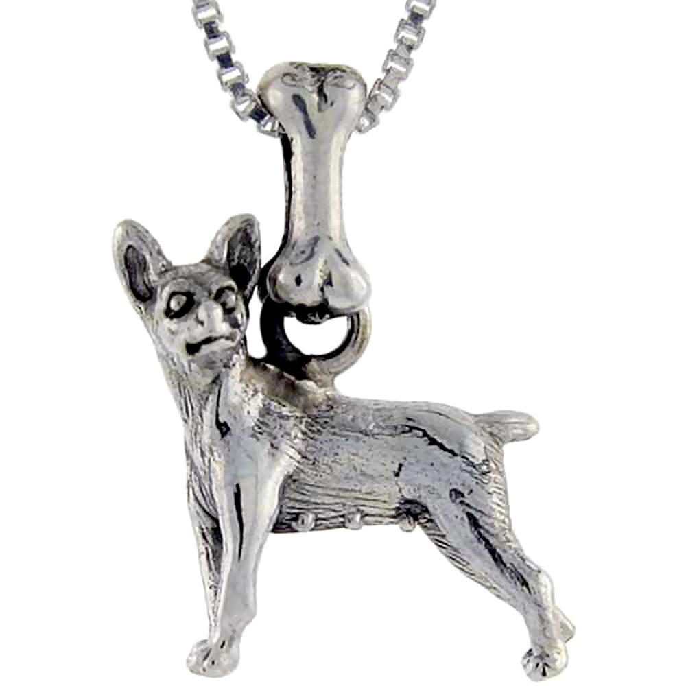 Sterling Silver Miniature Pinscher Dog Pendant ?