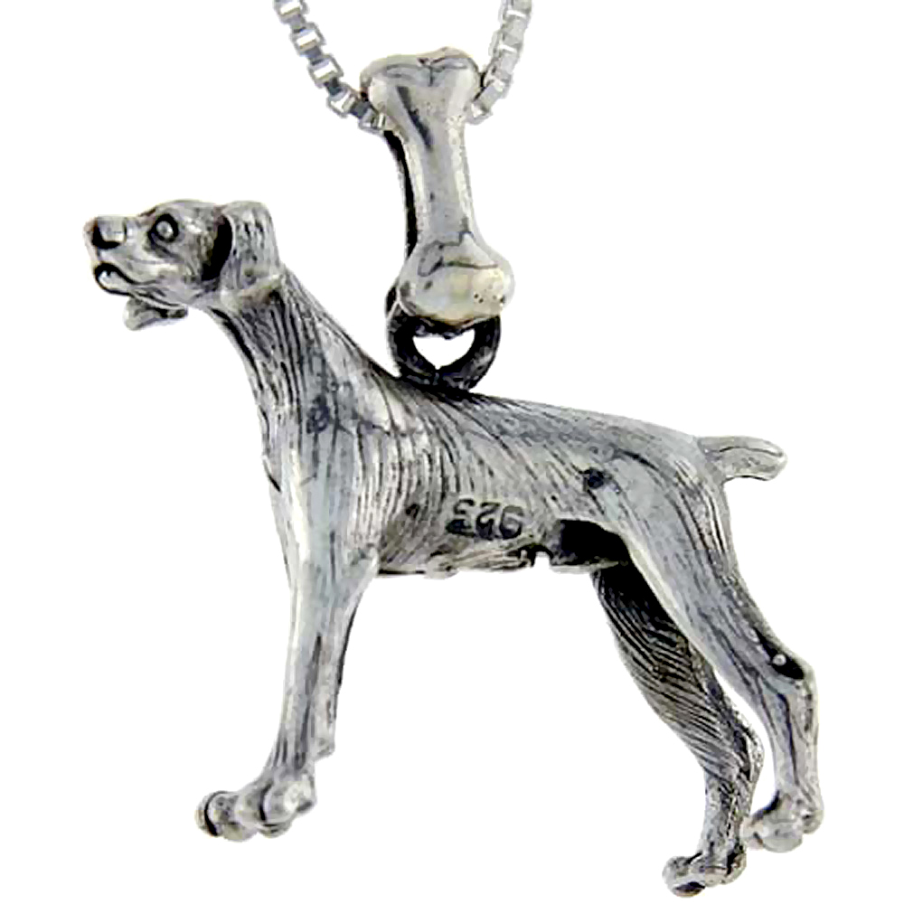 Sterling Silver Pointer Dog Pendant ?