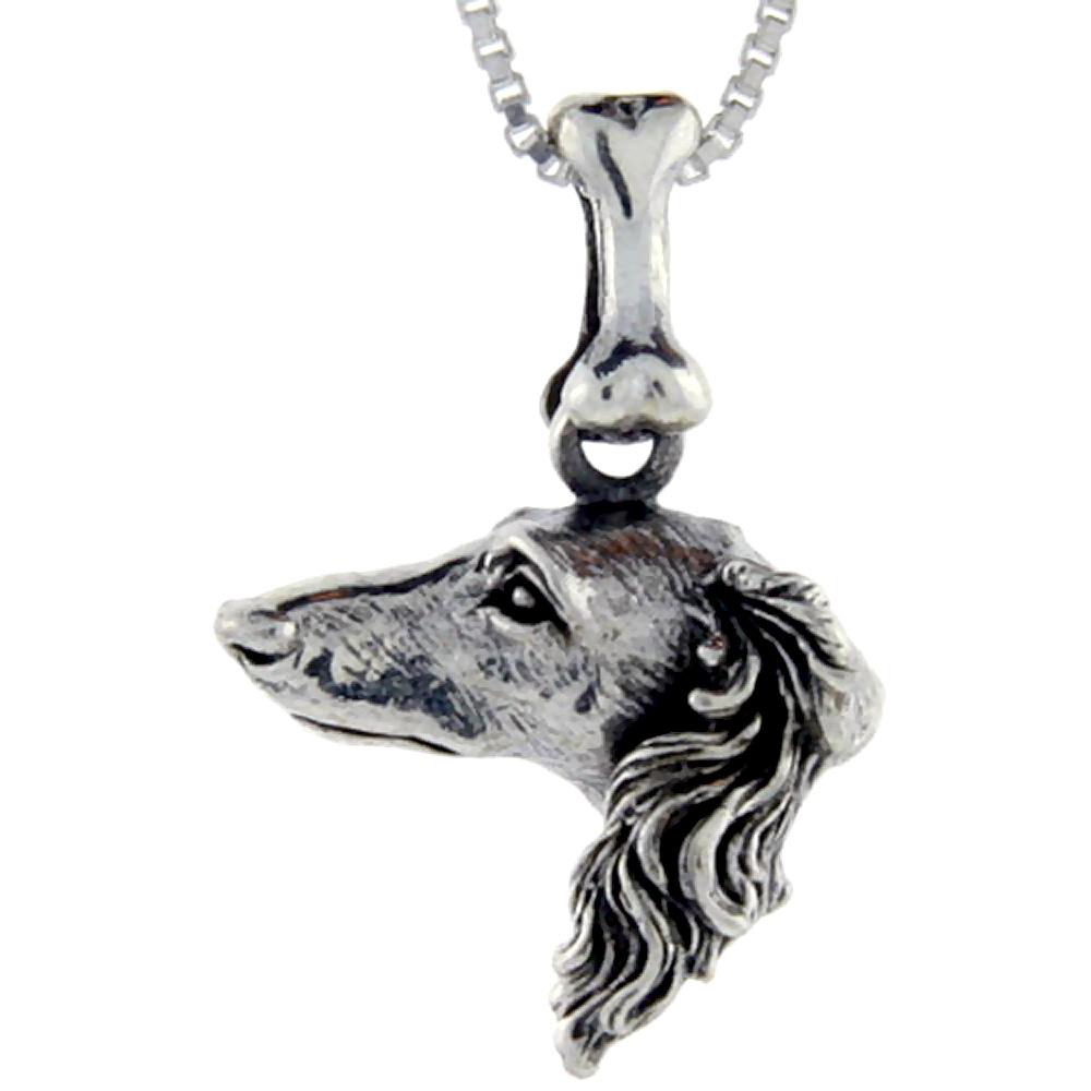 Sterling Silver Saluki Dog Pendant ?
