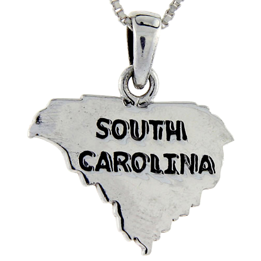 Sabrina Silver Sterling Silver South Carolina State Map Pendant, 1 inch tall at Sears.com