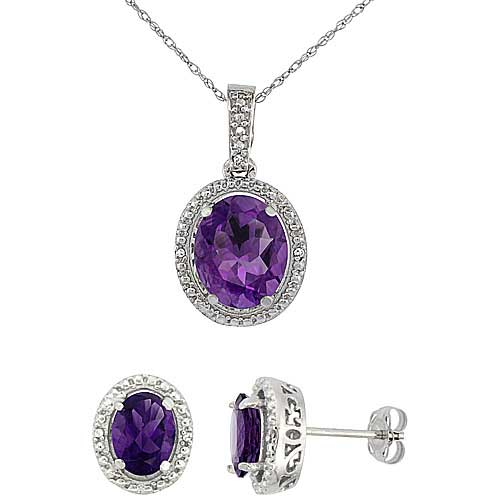 Jewelry Sets$$$10k White Gold Diamond Jewelry