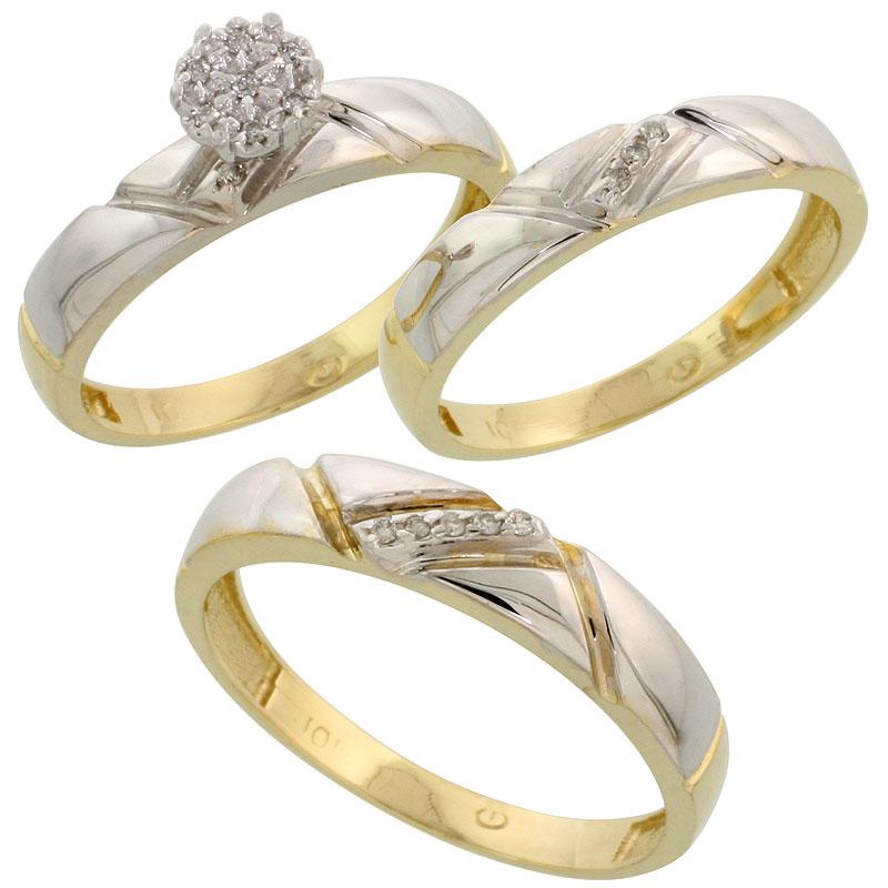Wedding & Engagement Sets$$$10k Yellow Gold Diamond Jewelry