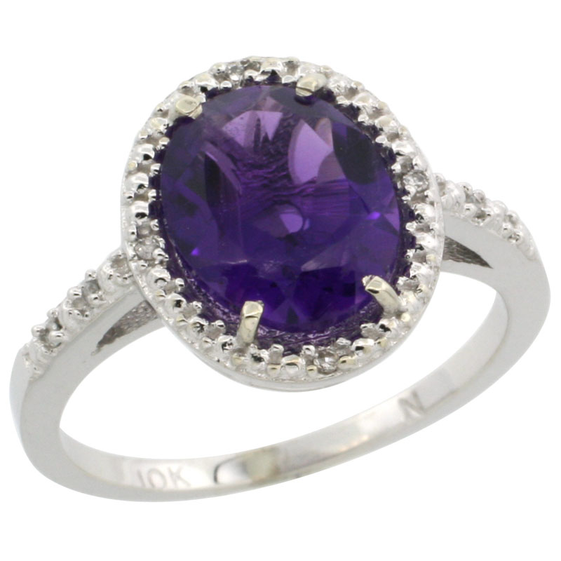 Color Gemstone Rings$$$14k White Gold Diamond Jewelry
