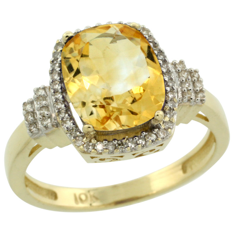 Color Gemstone Rings$$$10k Yellow Gold Diamond Jewelry