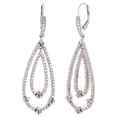 Earrings$$$10k White Gold Diamond Jewelry