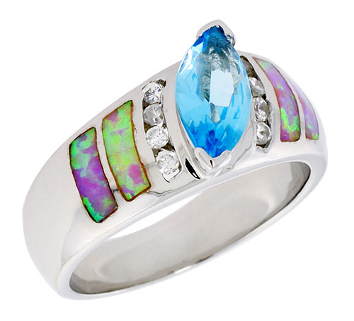 Lab Created Opal$$$Sterling Silver Jewelry