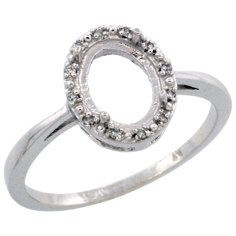 Semi-Mount Rings$$$10k White Gold Diamond Jewelry