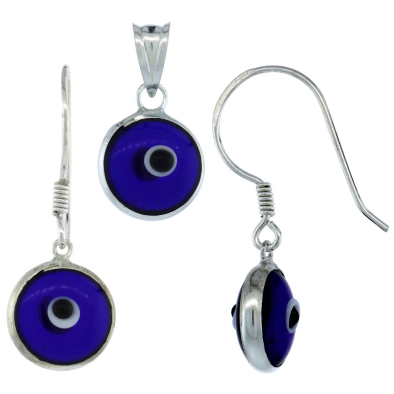 Evil Eye Earrings & Pendant