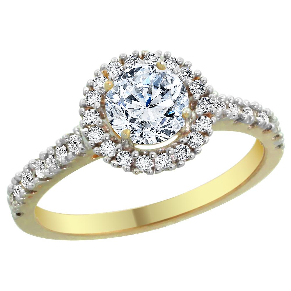 14K Yellow Gold 1.74 cttw Floating Diamond Ring, sizes 5 - 10