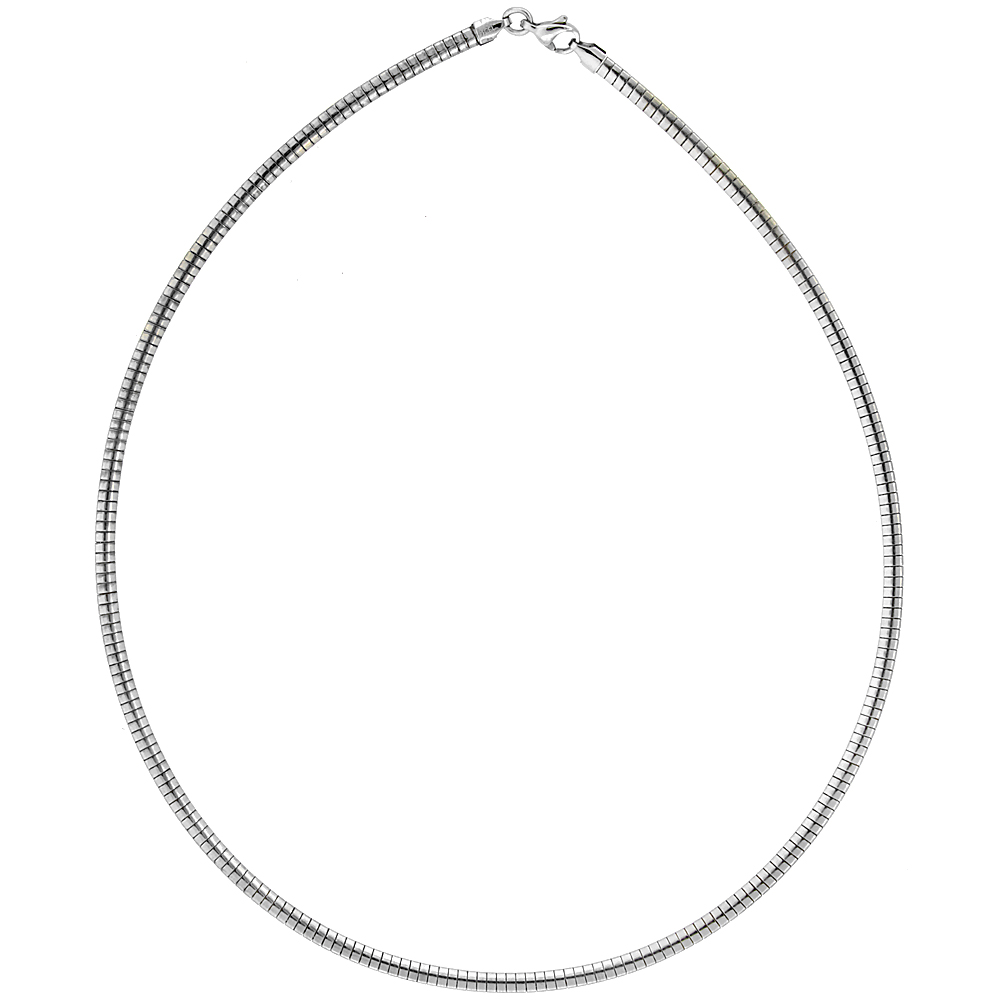 Stainless Steel Omega Necklaces for Women 1.5-4 mm wide