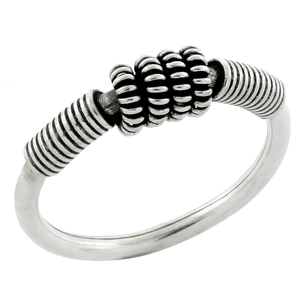 "Sterling Silver 1/16"" (2 mm) Tubular Wire Wrap Ring"