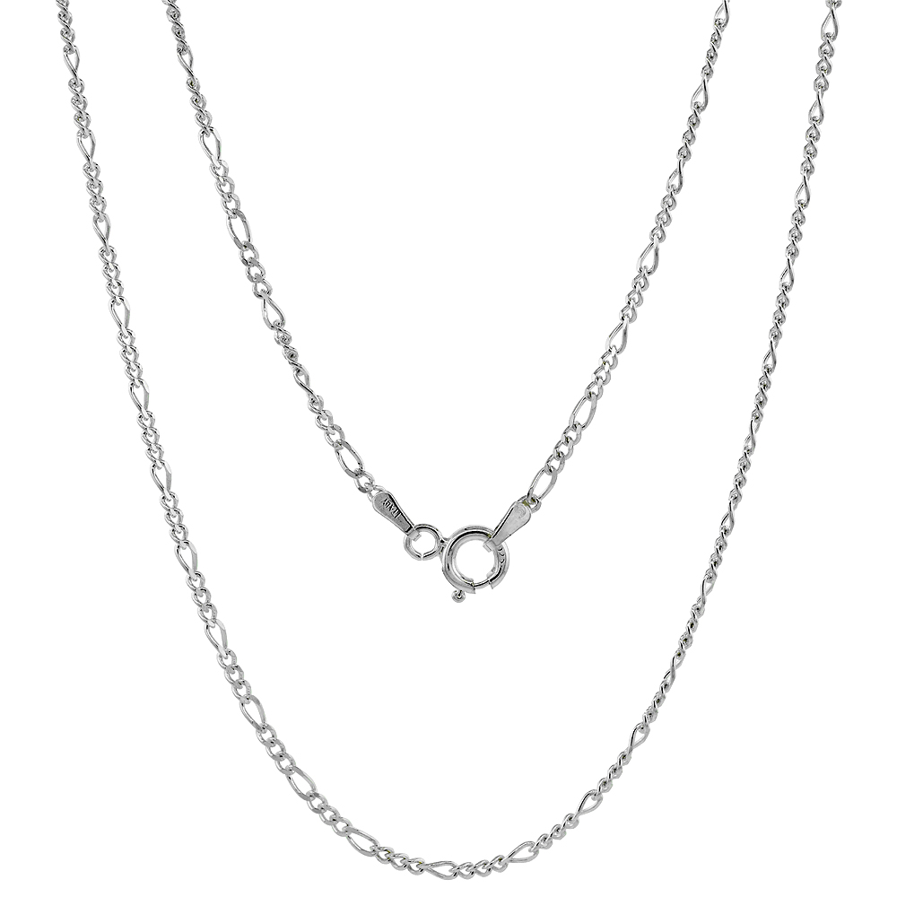 Sterling Silver Figaro Chain Anklet Figaro Ankle Chain 2mm - 5.5mm Nickel Free Italy 9-10 inch